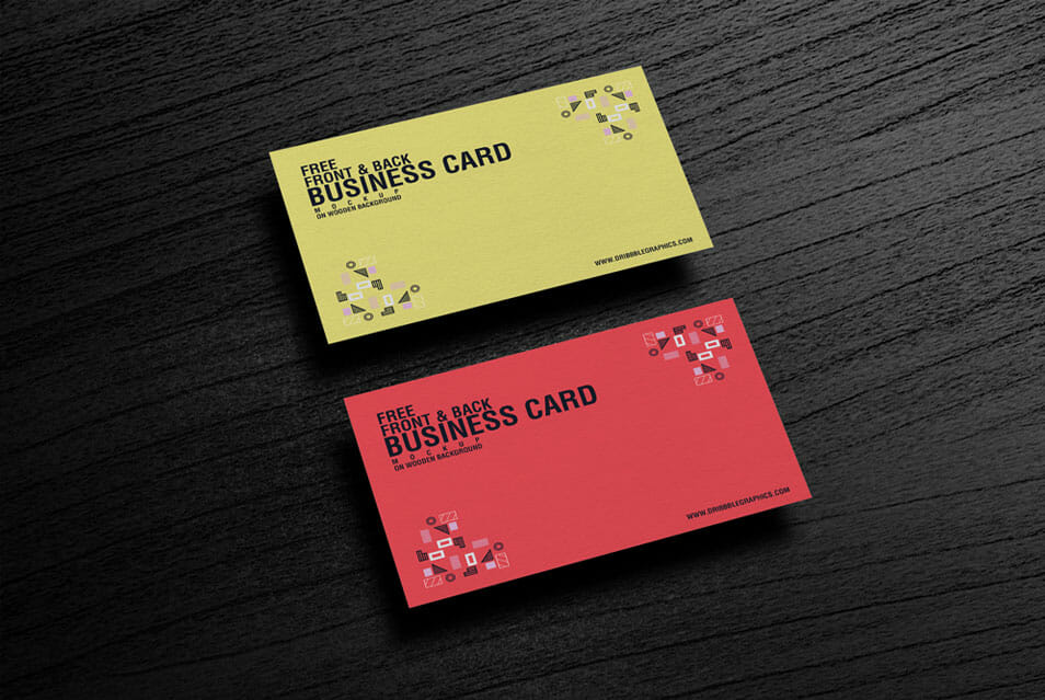 Free Front Back Business Card Mockup Css Author