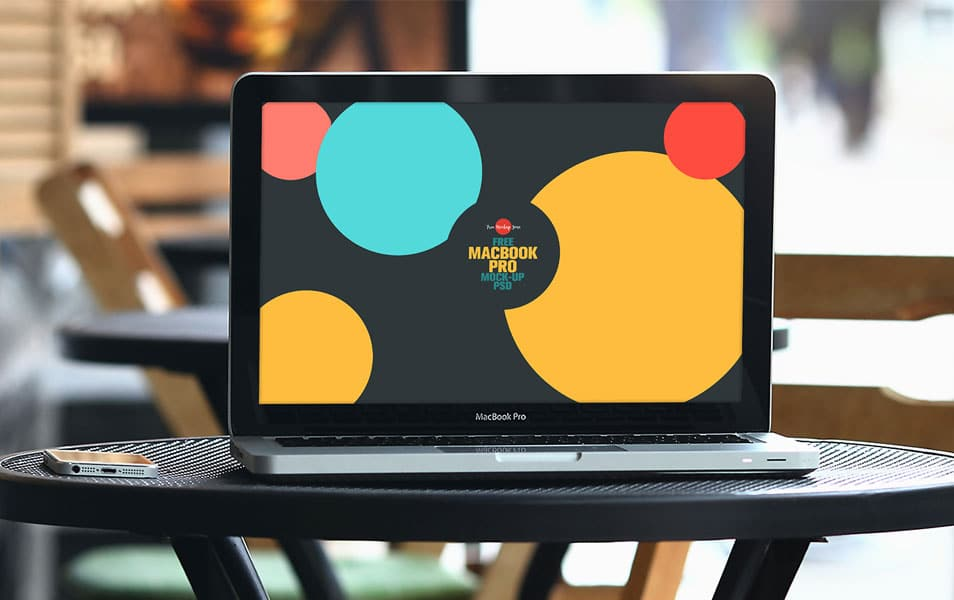 Free MacBook Pro Mock-up PSD