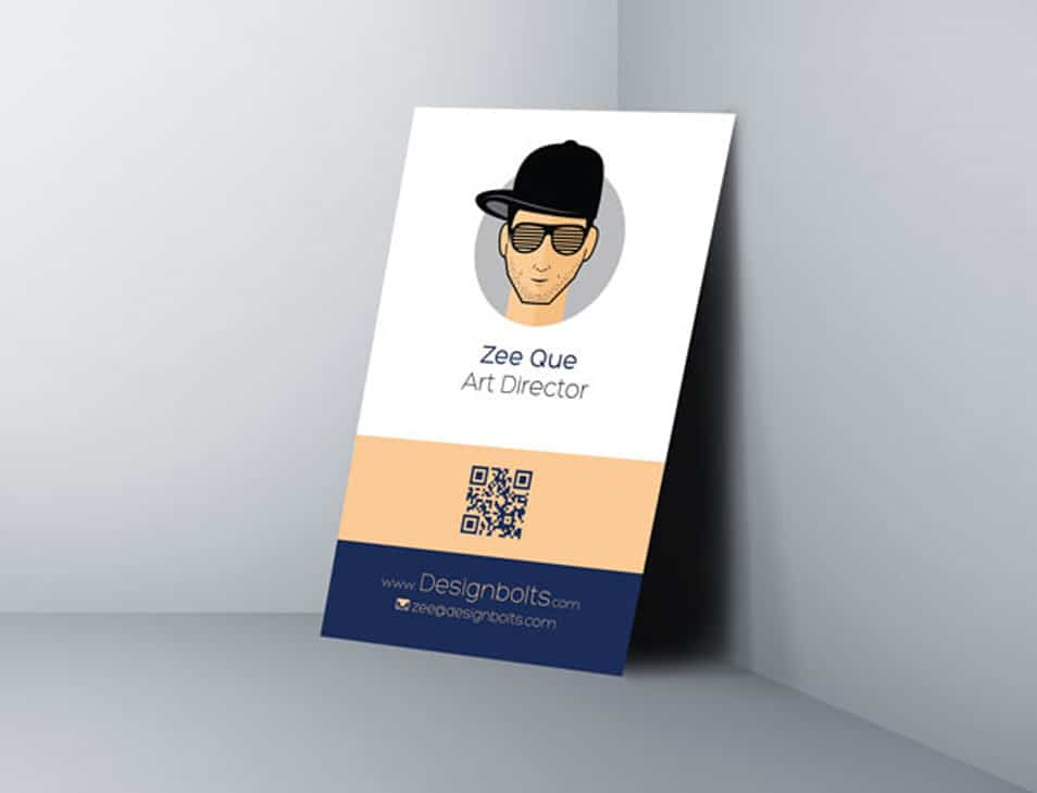 Free One Sided Vertical Business Card Design Template Css Author