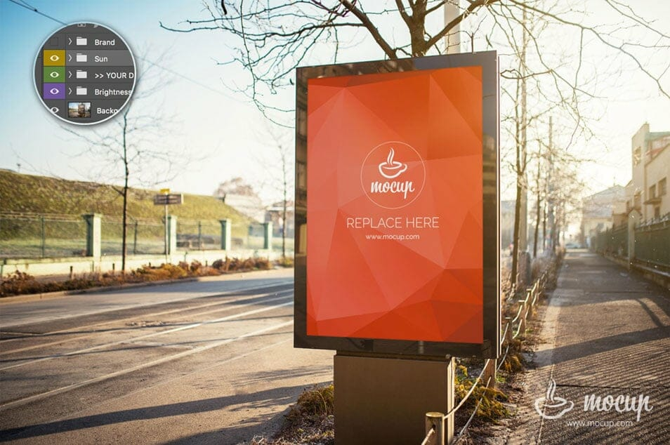 Free PSD Mockup Outdoor Advertising