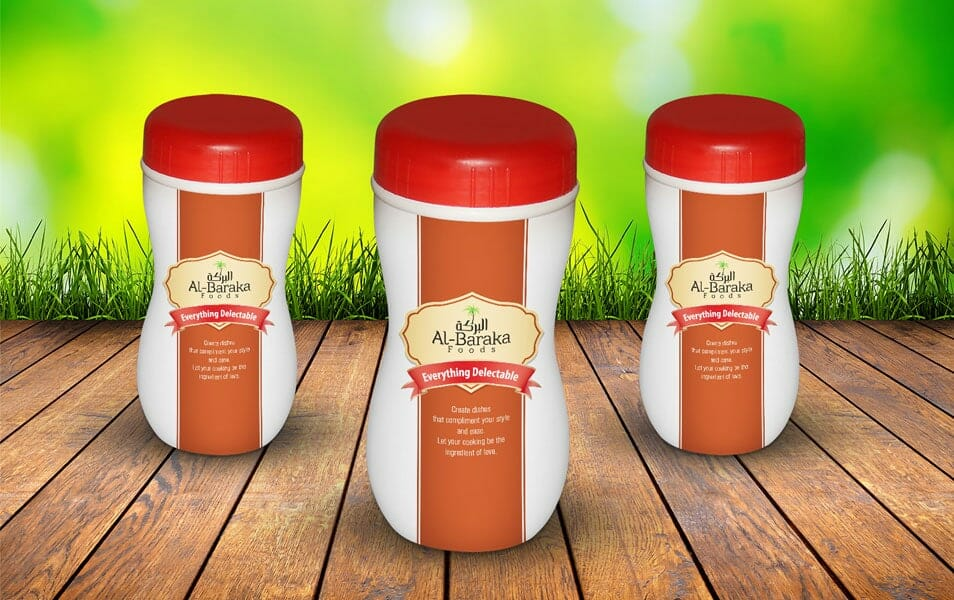 Free Plastic Bottle Jar Mock-up PSD
