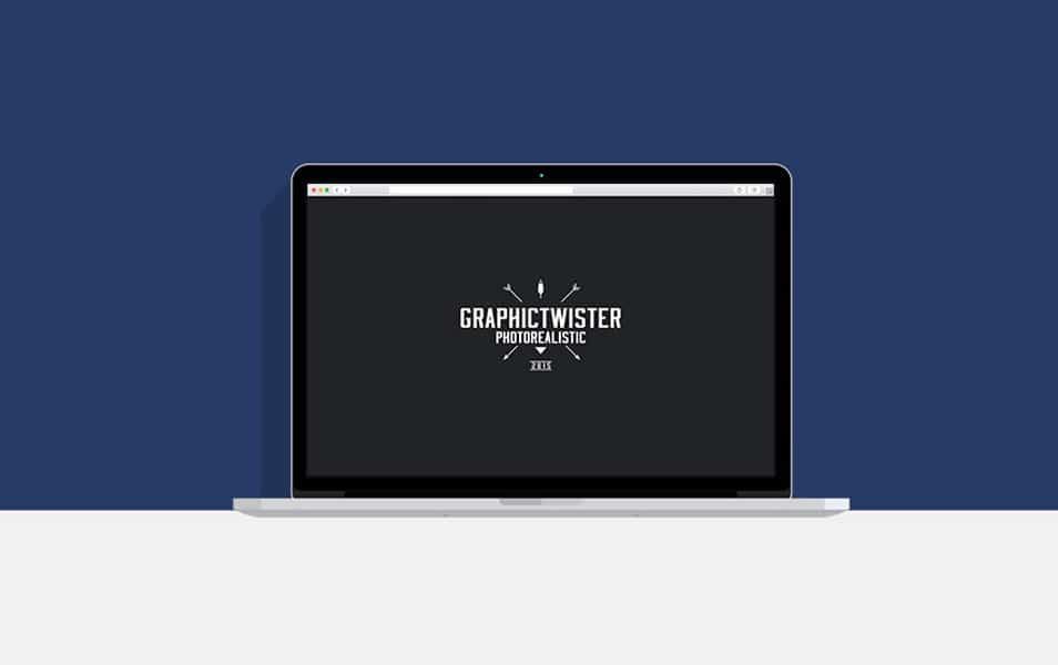 macbook template flat presentation css author