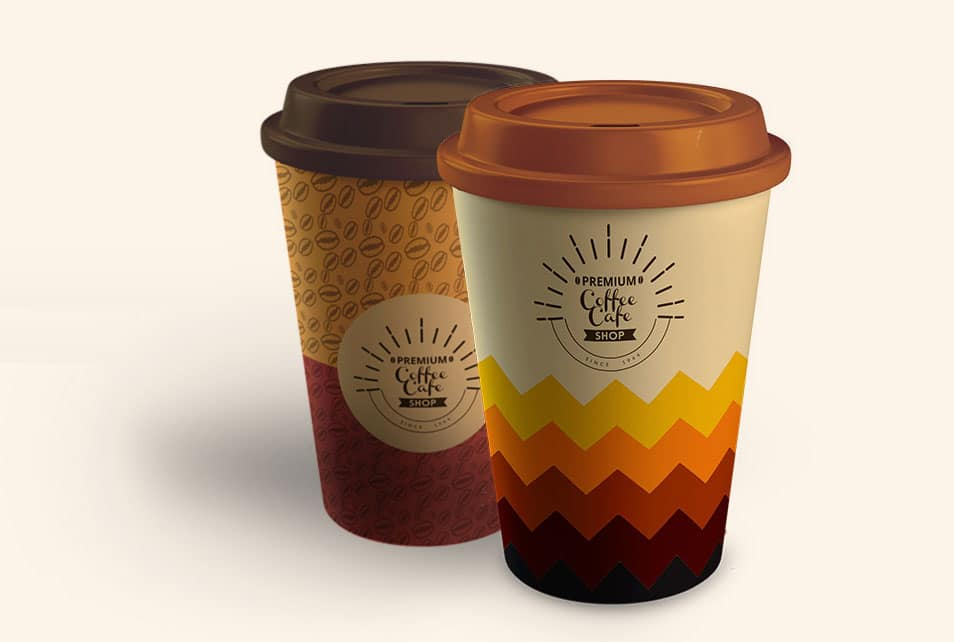 Paper Cup Mockup PSD Template