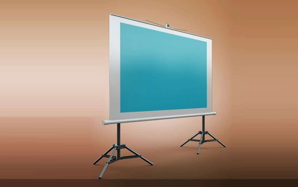 Projector Screen Mockup