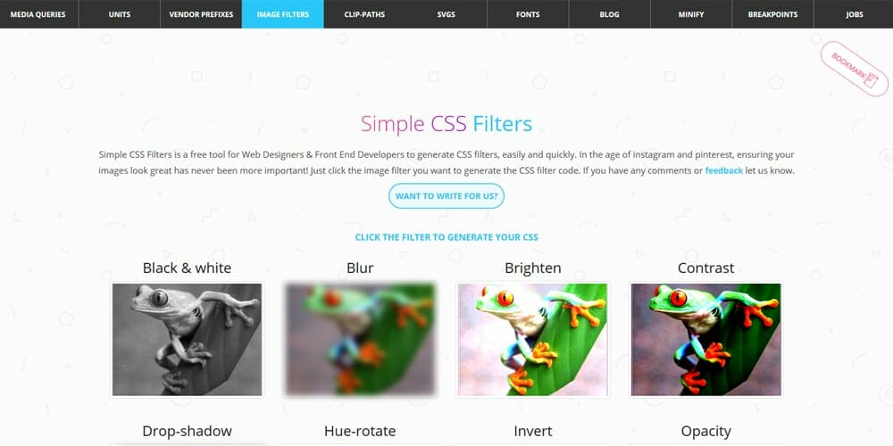 Simple CSS Filters