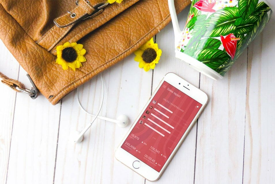 White iPhone With Sunflowers