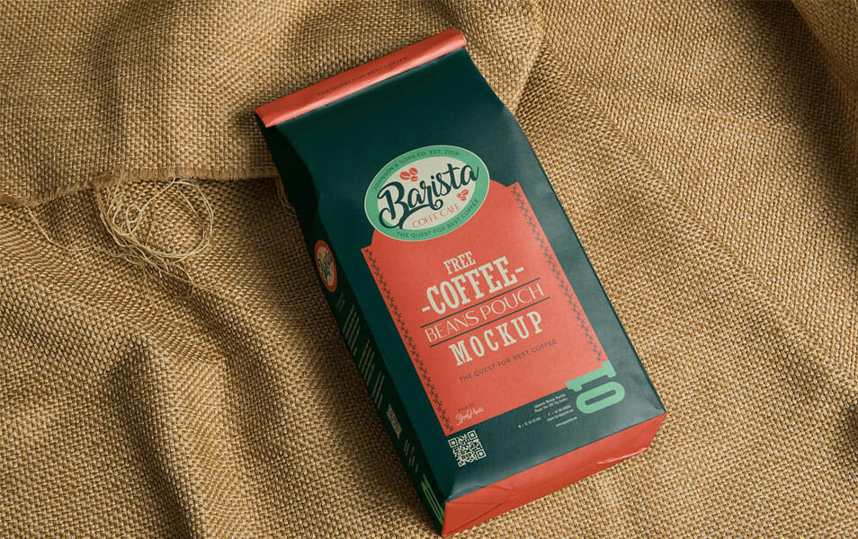 Free Classic Coffee Bag Mockup