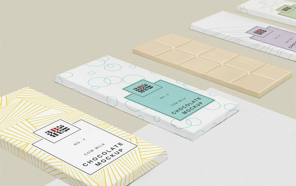 Free Cool Chocolate Bar Mockup