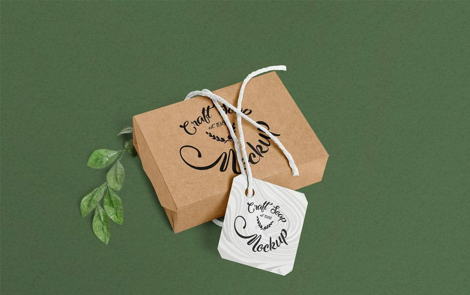 Free Craft Soap Box Mockup