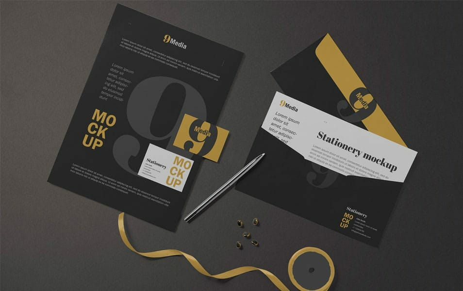 Free Letterhead & Business Card Mockup