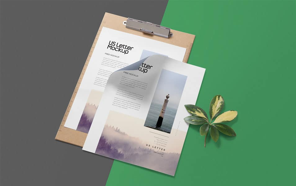 Free Letterhead Mock up