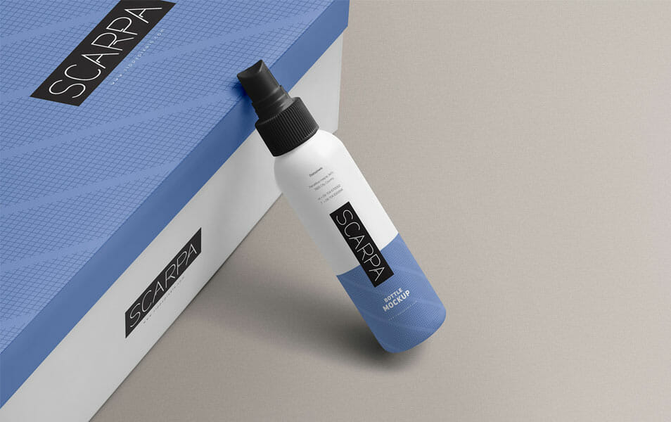 Free Plastic Spray Bottle Mockup