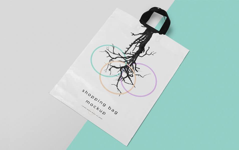 Free Polythene Shopping Bag Mockup