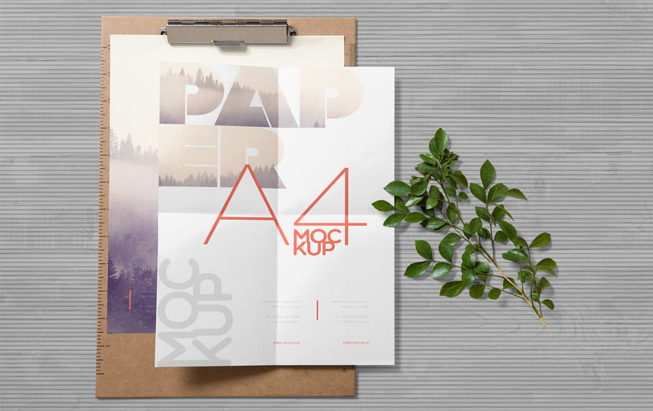 Free Realistic Paper Mockup