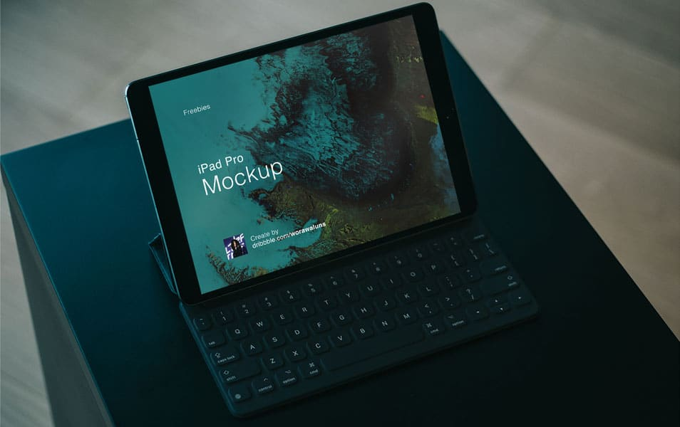 iPad Pro Mockup Sketch and PSD