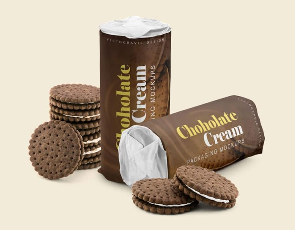 Chocolate Cream Packaging Mockup