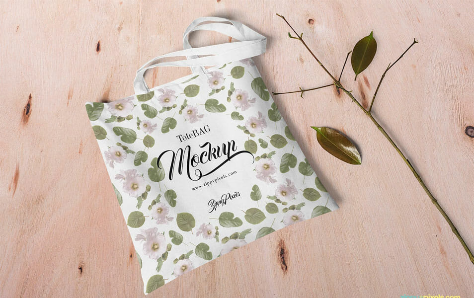Free Customizable Canvas Bag Mockup