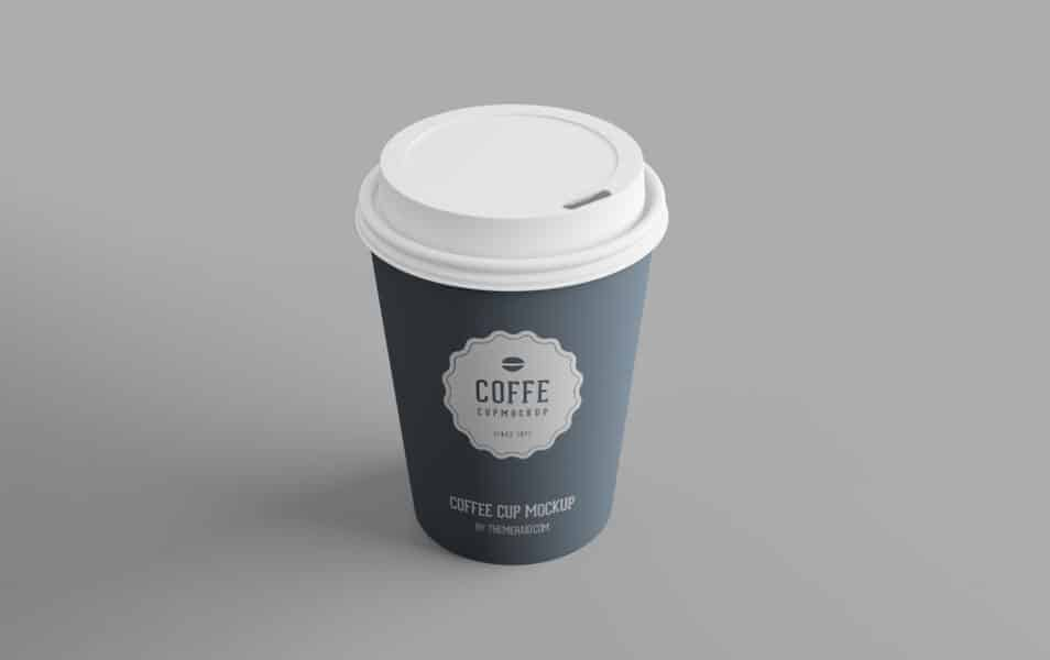 Free Disposable PSD Cup Mockup