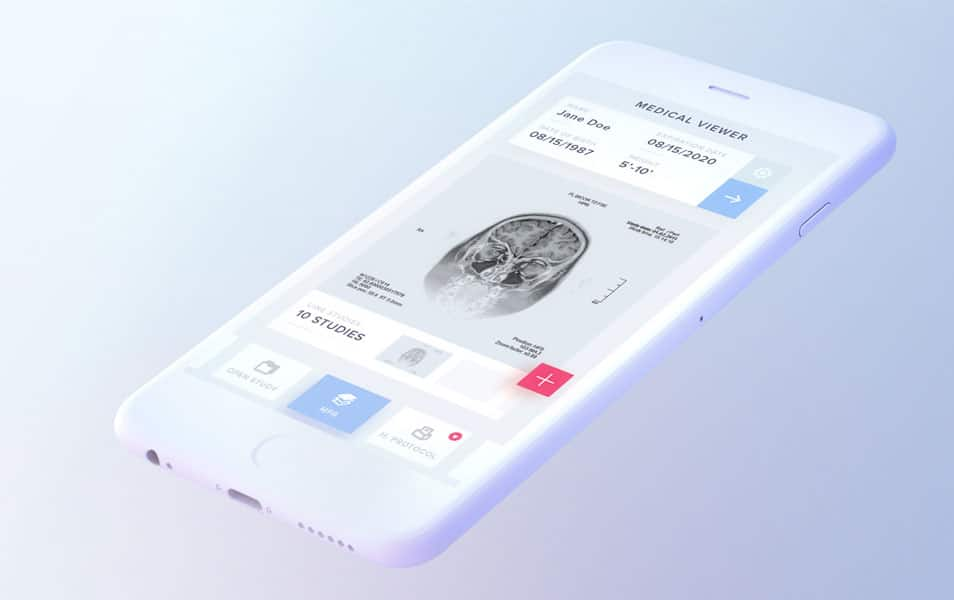 Free Elegant & Soft iPhone Mock-up PSD