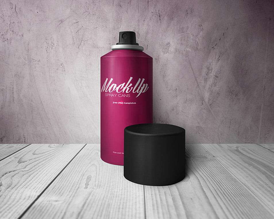 Free Spray Cans Mock-up in PSD