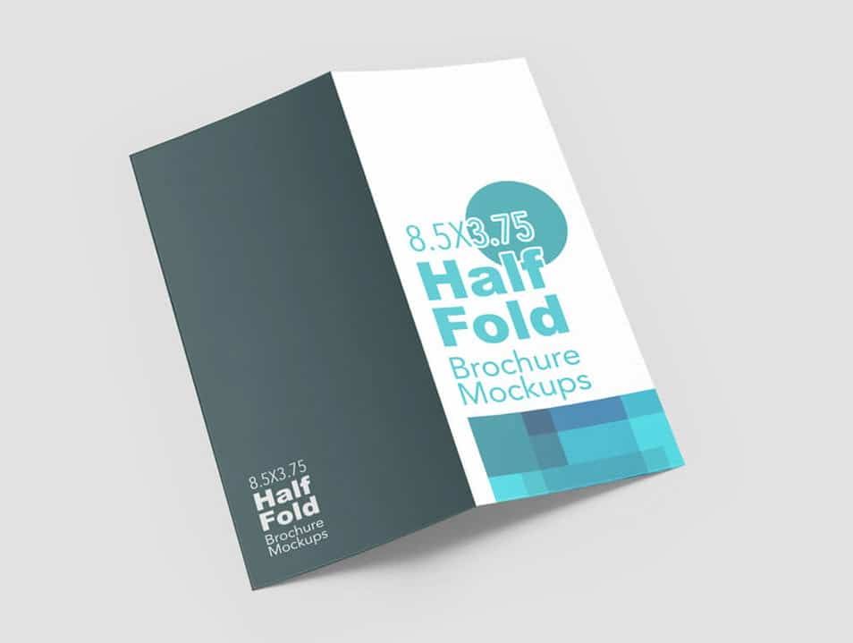 half fold vertical brochure mockups css author