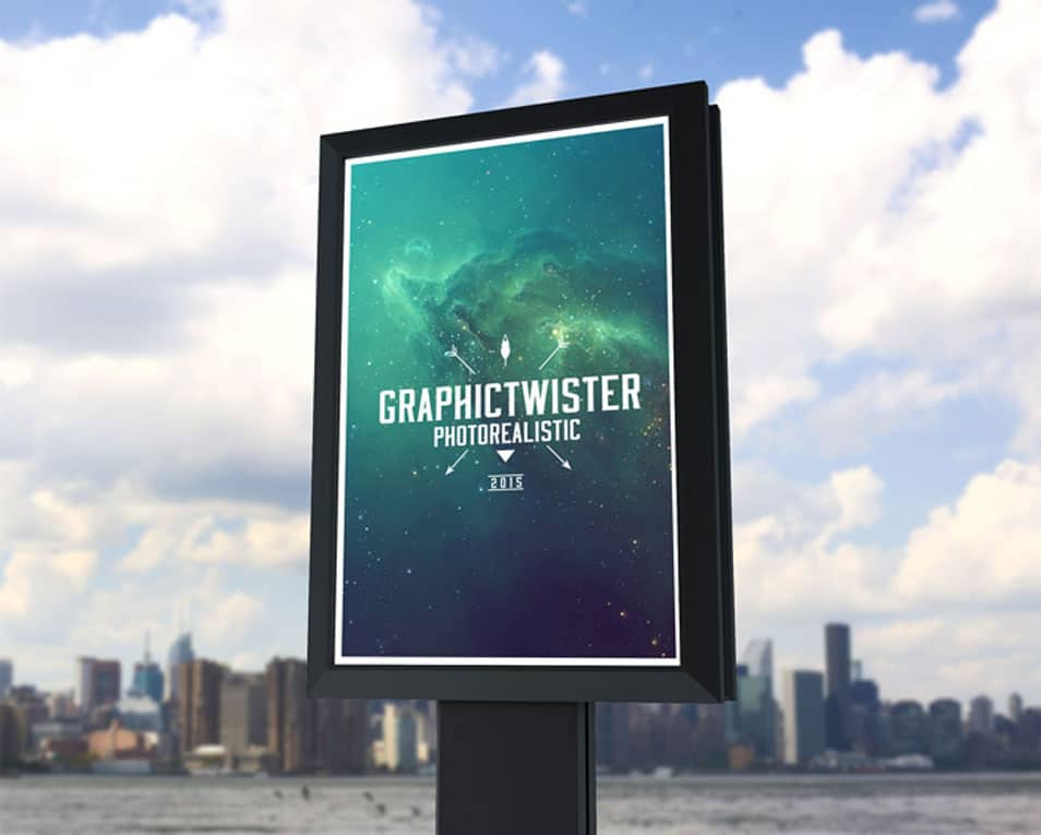 Small Outdoor Billboard Mockup