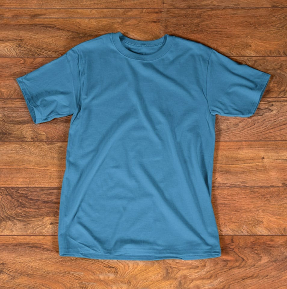 T shirt Turquoise Mockup Template