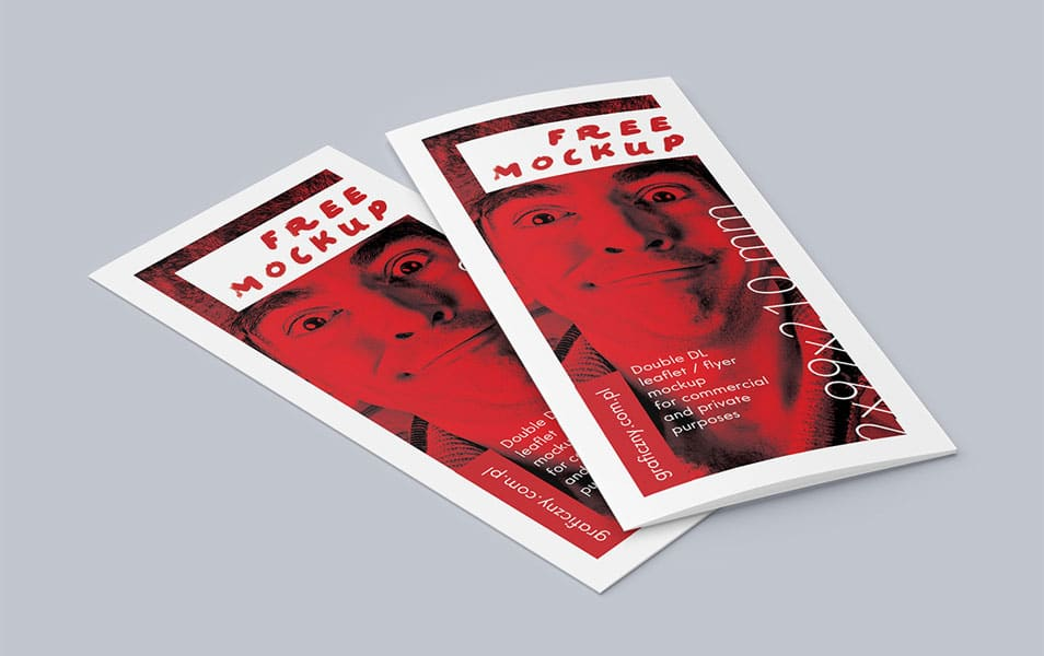Double DL Leaflet Mockup