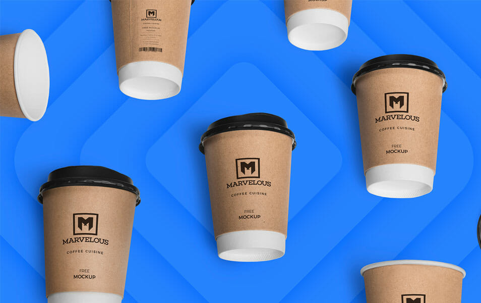 Free Awesome Coffee Cup Mockup