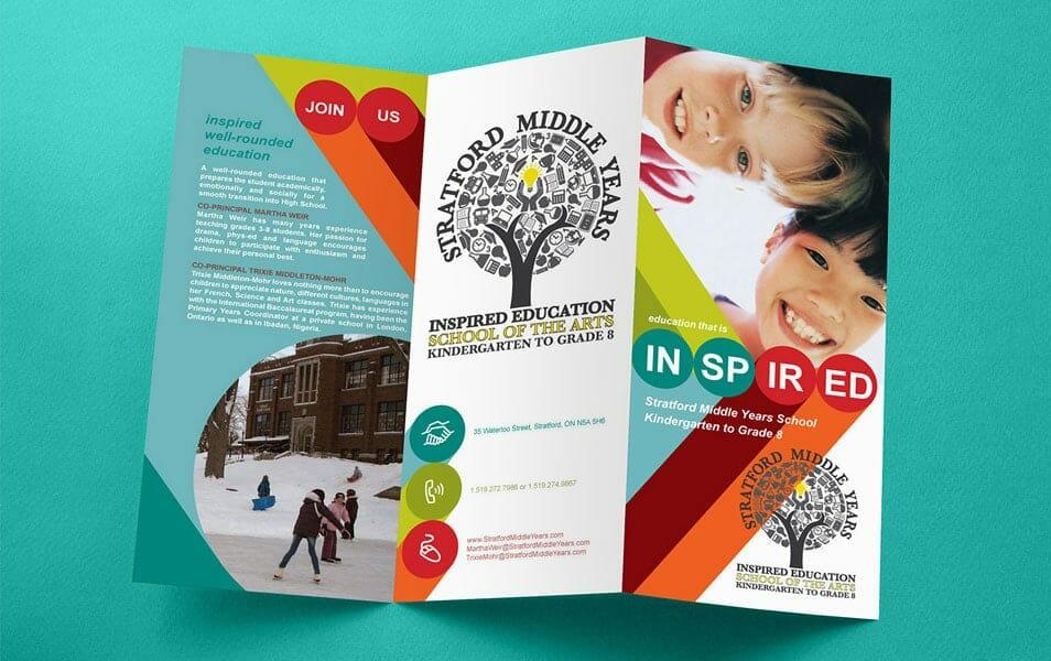 free tri fold brochure mockup css author