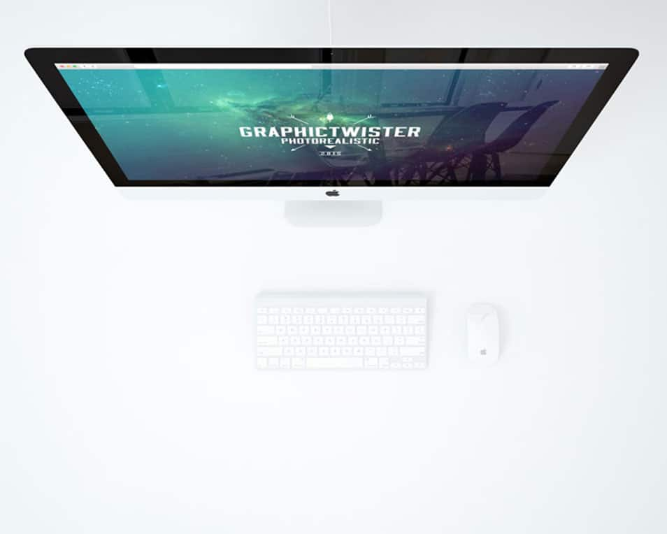 Minimal Office With iMac Mockup