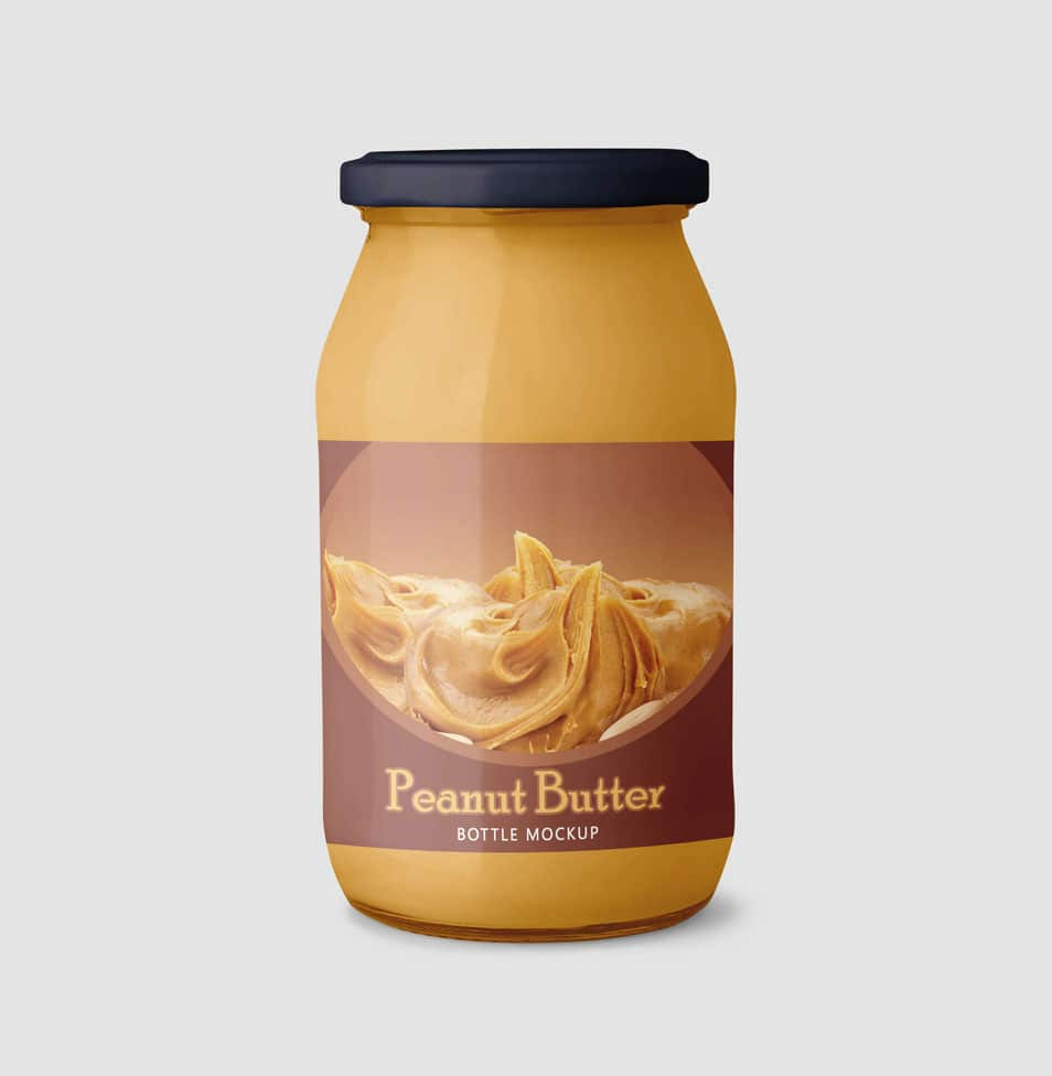 Peanut Butter Container Mockup
