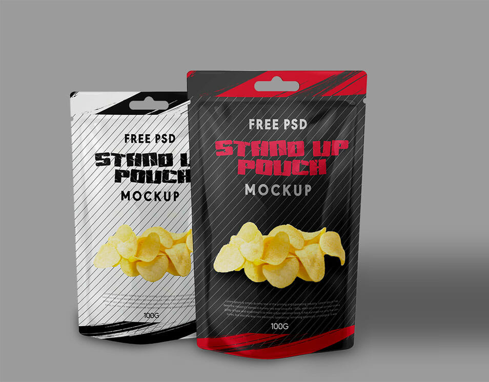 Stand Up Foil Bag Mock Up