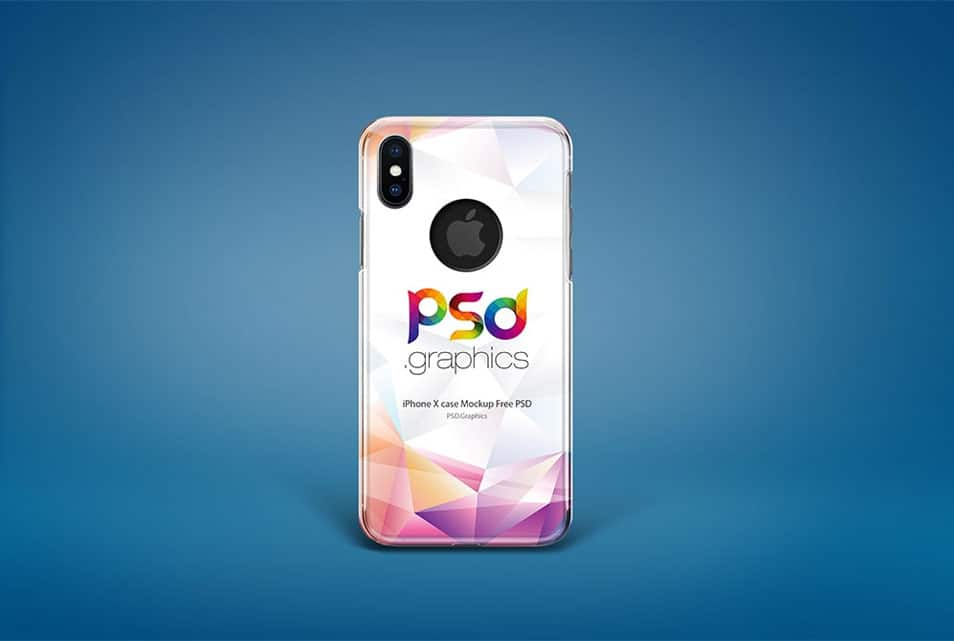 iPhone X Case Mockup Free PSD