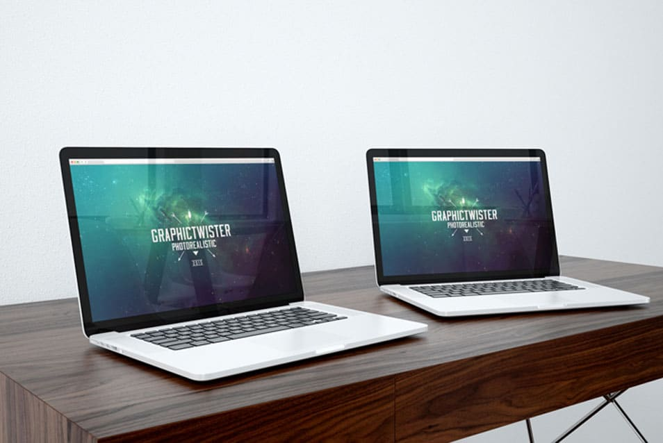 Double Mac Book Pro Mockup