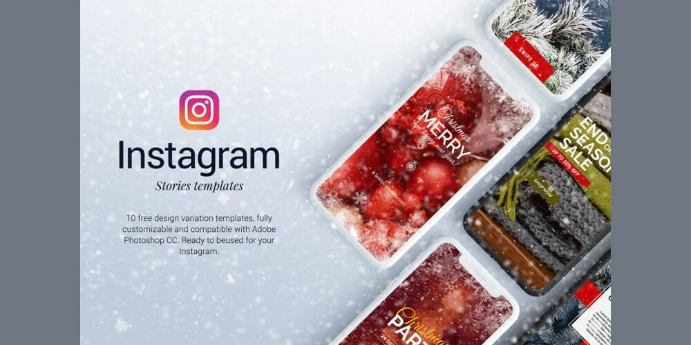 Free Christmas Instagram Stories Templates Free Christmas Instagram Stories Templates PSD