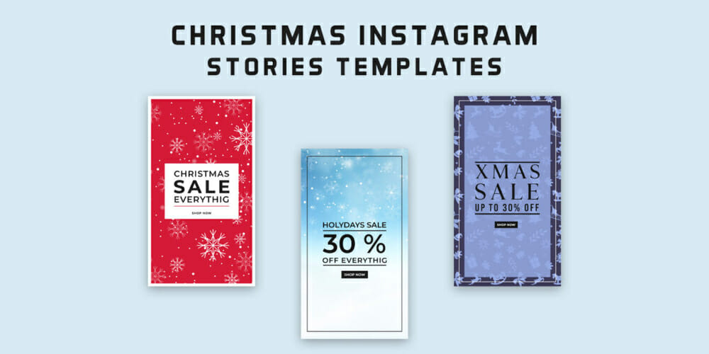 Free Christmas Instagram Stories Templates PSD