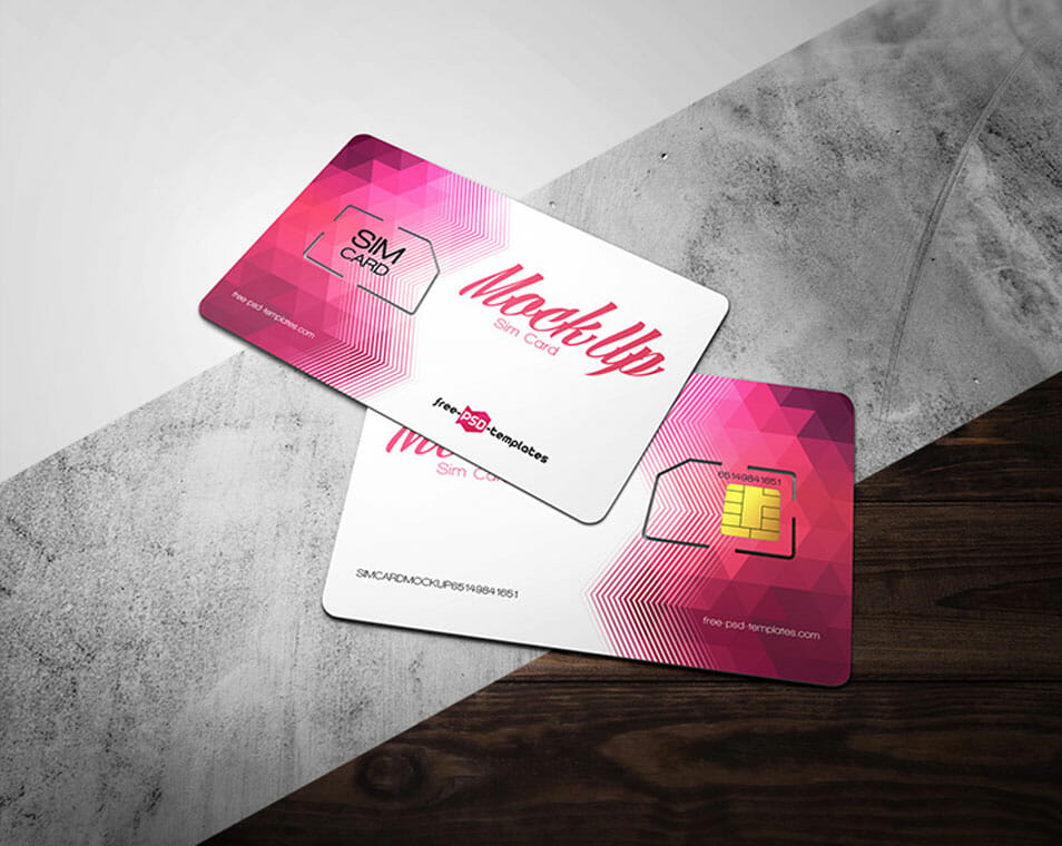 Free Sim Card Mock-up in PSD