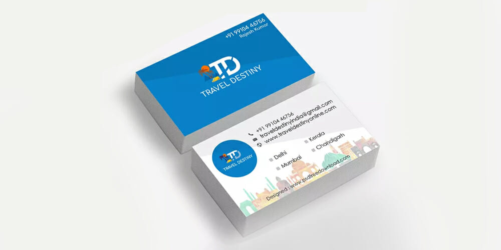 Travel Business Card Design Psd