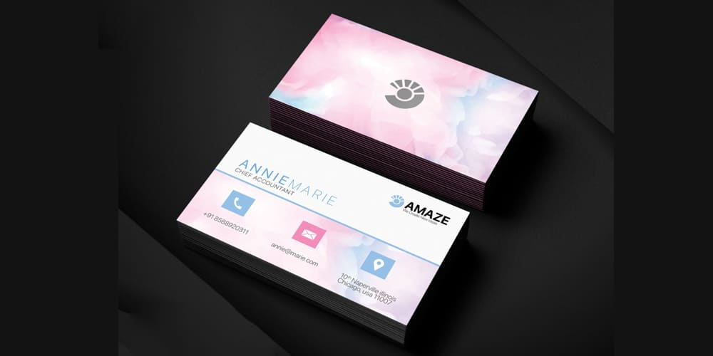 Accountant Business Card Template PSD