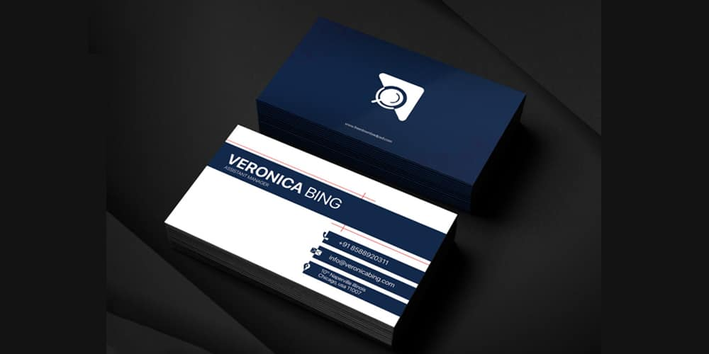 Assistant Manager Business Card Template PSD