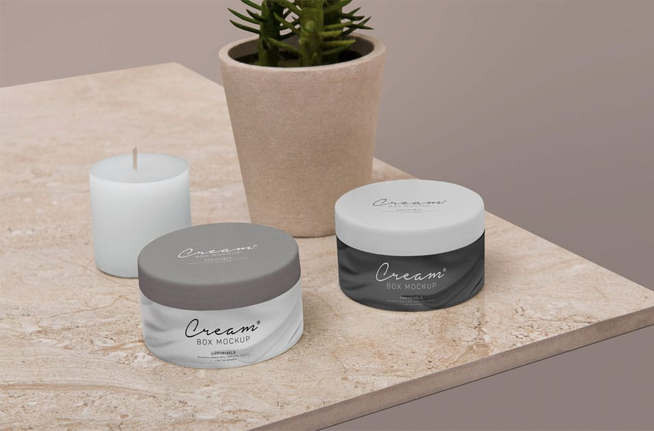 Free Amazing Cosmetic Jar Mockup
