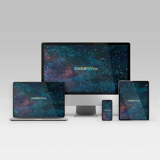 Free Responsive Design Devices Mockup in PSD